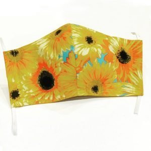 Face mask sunflowers