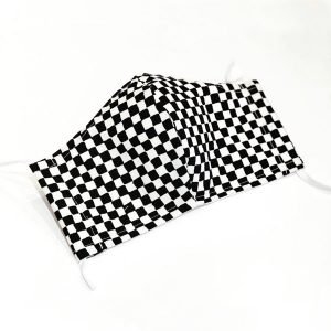 Face mask black checkers