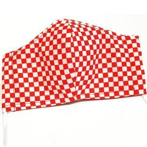 Face mask red checkers